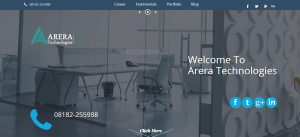 Arera  Tech Home page